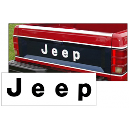 1986-92 Jeep - MJ Comanche Pickup Tailgate Letter Decal Set